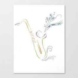Jazzy Saxophone Canvas Print