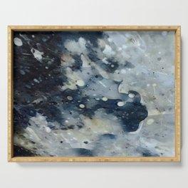 Dark Galaxy1 watercolour by CheyAnne Sexton Serving Tray