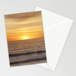 California Sunset Over Ocean Stationery Cards