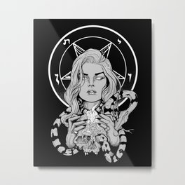 Black Mass Ritual Metal Print