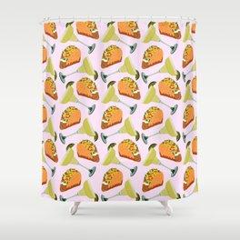 Tacos y Margaritas Pattern Shower Curtain