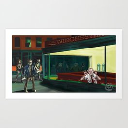 Nighthawks of the Dead Art Print