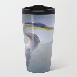 Portrait Of A Heron Travel Mug