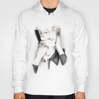 david bowie Hoodies featuring DECONSTRUCTION OF DAVID BOWIE  by Dianah B
