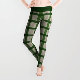Evergreen Cozy Cabin Plaid Leggings
