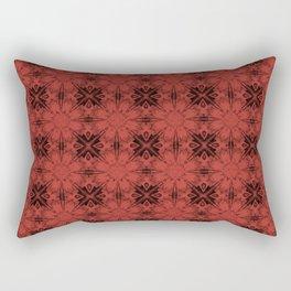 Aurora Red Floral Geometric Rectangular Pillow
