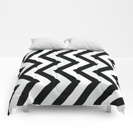 vertical chevron Comforters