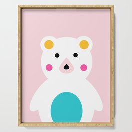 Hello Bear Art Print Serving Tray