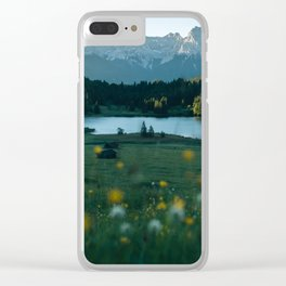 Sunrise at a mountain lake with forest - Landscape Photography Clear iPhone Case
