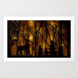 Woodland Scene. Art Print