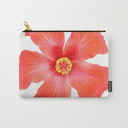 Tropical Hibiscus Flower Vector Carry-All Pouch