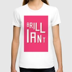 Brilliant SMALL White Womens Fitted Tee