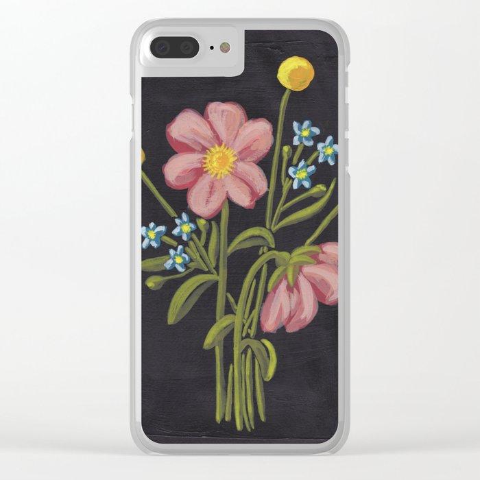 Sunshine Bouquet Clear iPhone Case
