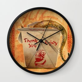 Tentacle Take-Out Wall Clock