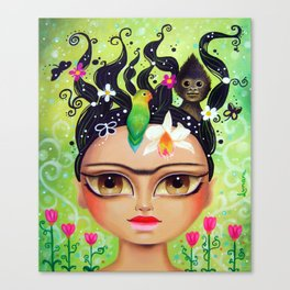 Frida connecting with nature Canvas Print