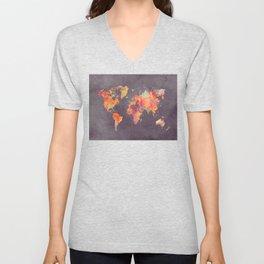 world map 67 Unisex V-Neck