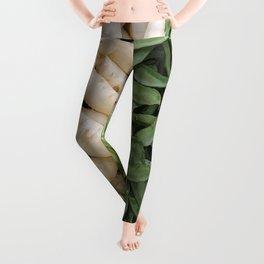 Radish white and green beans Illustration Leggings