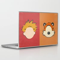 hobbes Laptop & iPad Skins featuring A boy and his tiger by Raquel Segal