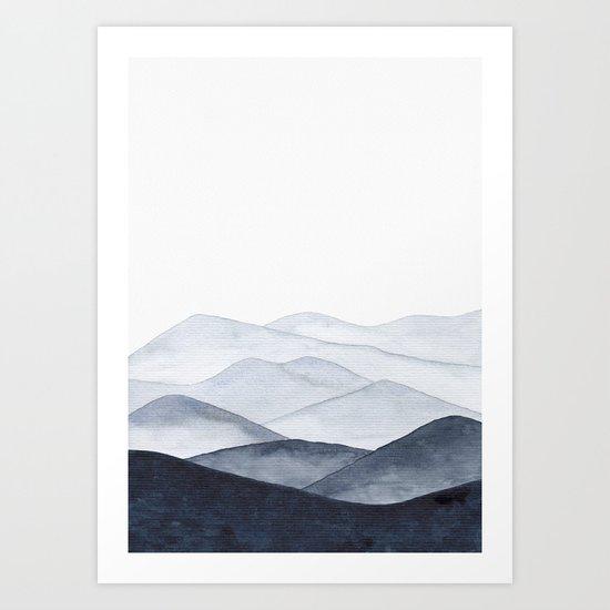 Watercolor Mountains by ccartstudio