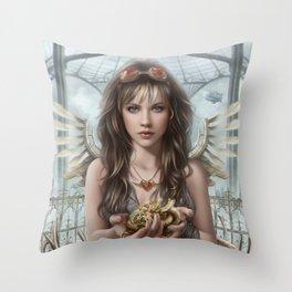Steam Heart Throw Pillow