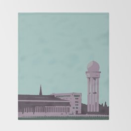 Tempelhof Park, Berlin Throw Blanket