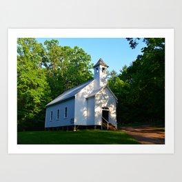 Cades Cove Baptist Church 1839 Art Print