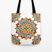 manchester Tote Bags featuring Manchester Mandala by Patricia Shea Designs