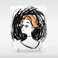 bioshock Shower Curtains featuring Rosalind Lutece by Panda