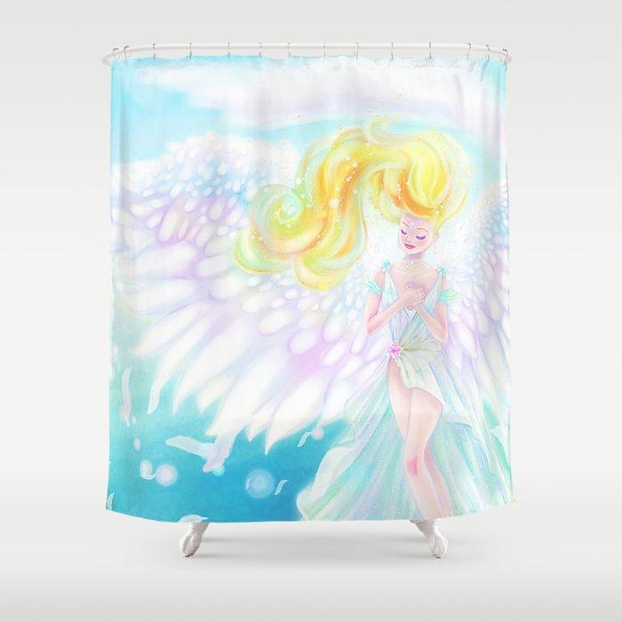 Angel of Light Shower Curtain
