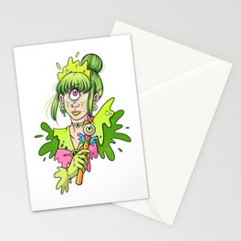 Magical Cyclops Girl Stationery Cards