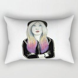 Hat girl Rectangular Pillow