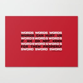 WORDS Canvas Print