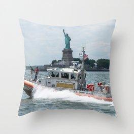 Coast Guard and Liberty Throw Pillow