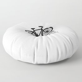 Life is like riding a bicycle... Floor Pillow
