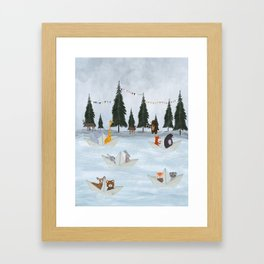 the great paper boat race Framed Art Print