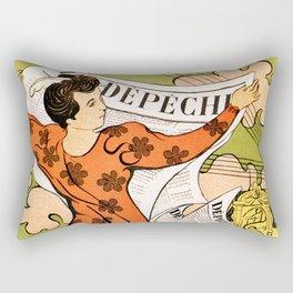 La Depeche Rectangular Pillow