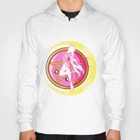 sailormoon Hoodies featuring In the name of the moon by Juliet García