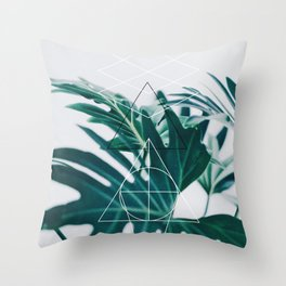 Botanic geometry Throw Pillow