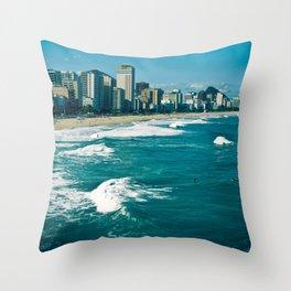 Rio de Janeiro, Copacabana, Ipanema, Beach Throw Pillow