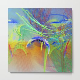 Chaotic worlds collide Metal Print