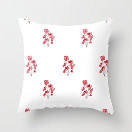 Poppy Wallpaper Throw Pillow