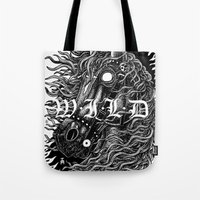 occult Tote Bags featuring Occult horse by Iria Alcojor