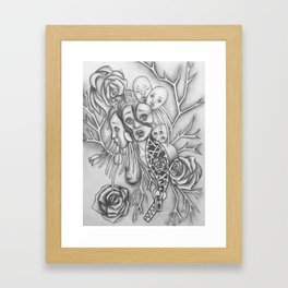 Rooted Problems-Drawing Illustration Framed Art Print