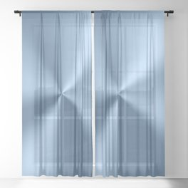 Blue metallic stainless steel pattern print Sheer Curtain