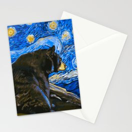 Bear Van Gogh (Painting Retouch) Stationery Cards