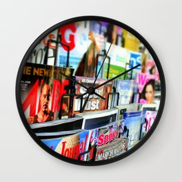 Magazine Stand Wall Clock