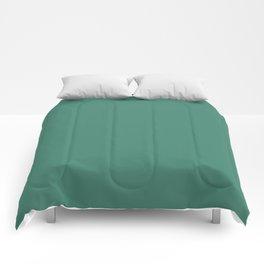 Viridian Green Solid Color Comforters