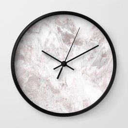 White Marble Mountain 015 Wall Clock