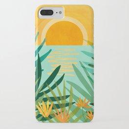 Peaceful Tropics / Sunset Landscape iPhone Case
