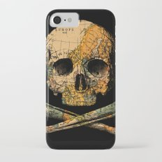 Treasure Map Skull Wanderlust Europe iPhone 7 Slim Case